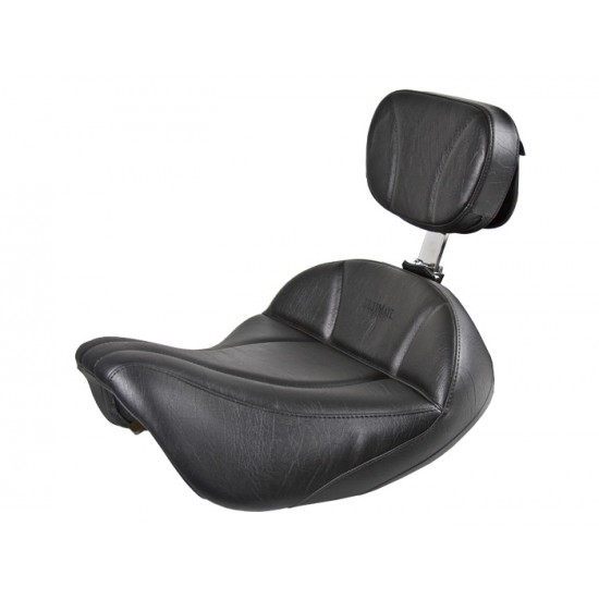 FLH® 1997-2007 2-Piece Midrider Seat and Driver Backrest - Plain or Studded