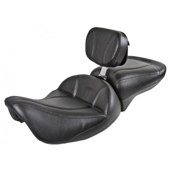 FLH® 1997-2007 2-Piece Midrider Seat, Passenger Seat and Driver Backrest - Plain or Studded