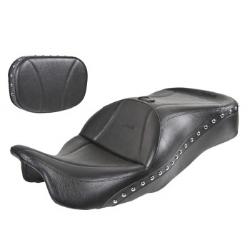 FLH® 2014 and Newer 1-Piece Touring Seat and Sissy Bar Pad - Plain or Studded
