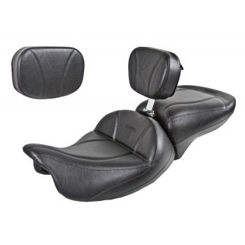FLH® 2014 and Newer 2-Piece Seat, Passenger Seat, Driver Backrest and Sissy Bar Pad - Plain or Studded