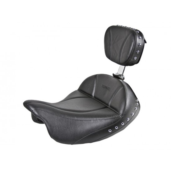 FLH® 2008-2013 2-Piece Seat and Driver Backrest - Plain or Studded