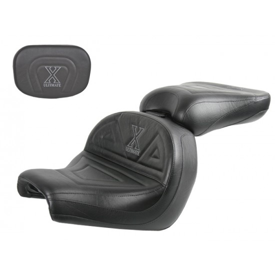 VTX 1300 C Lowrider Seat, Passenger Seat and Sissy Bar Pad - Plain or Studded