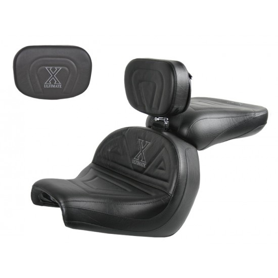 VTX 1300 C Lowrider Seat, Passenger Seat, Driver Backrest and Sissy Bar Pad - Plain or Studded