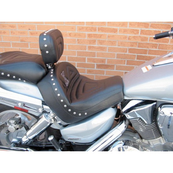 VTX 1300 C Lowrider Seat, Passenger Seat and Driver Backrest - Plain or Studded