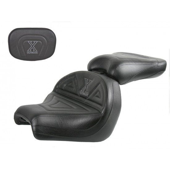 VTX 1300 C Midrider Seat, Passenger Seat and Sissy Bar Pad - Plain or Studded