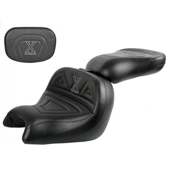 VTX 1800 C Lowrider Seat, Passenger Seat and Sissy Bar Pad - Plain or Studded