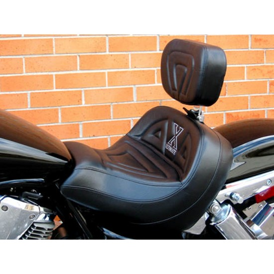 VTX 1800 C Lowrider Seat and Driver Backrest - Plain or Studded