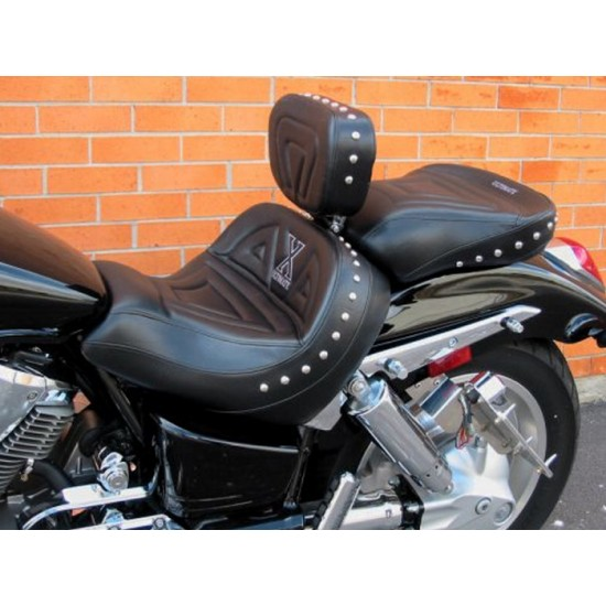 VTX 1800 C Lowrider Seat, Passenger Seat and Driver Backrest - Plain or Studded