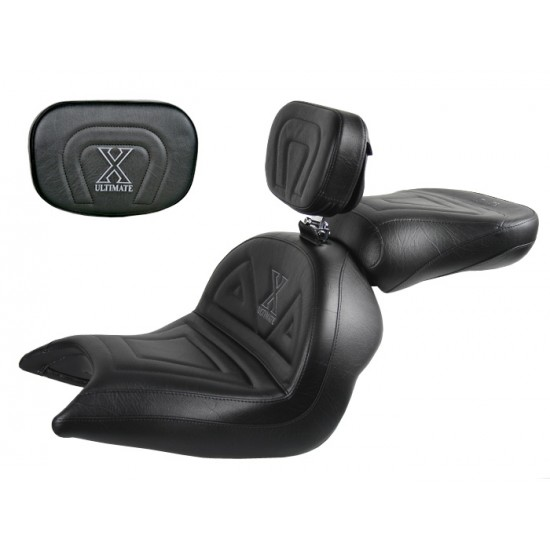 VTX 1800 N Neo Lowrider Seat, Passenger Seat, Driver Backrest and Sissy Bar Pad - Plain or Studded