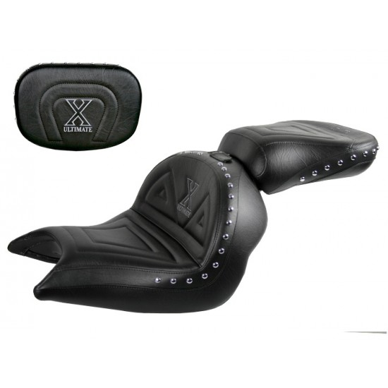 VTX 1800 N Neo Lowrider Seat, Passenger Seat and Sissy Bar Pad - Plain or Studded