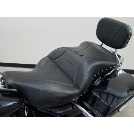 FLH® 1997-2007 Midrider 1-Piece Seat and Sissy Bar Pad - Plain or Studded