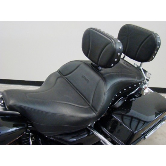 FLH® 1997-2007 Midrider 1-Piece Seat, Driver Backrest and Sissy Bar Pad - Plain or Studded