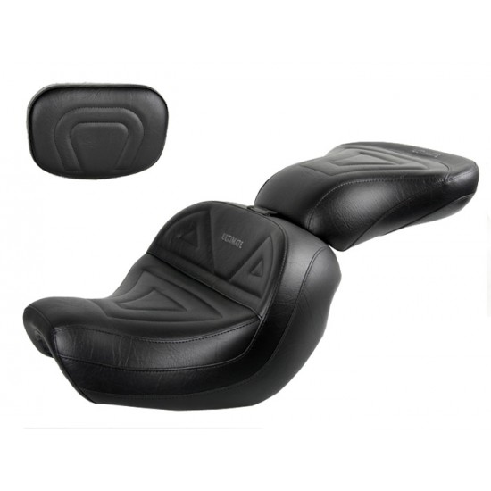 Shadow Aero 750 Seat, Passenger Seat and Sissy Bar Pad - Plain or Studded