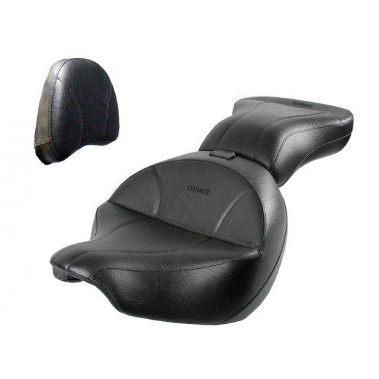 Boulevard C109 Seat, Passenger Seat and Stock Sissy Bar Pad Cover - Plain or Studded