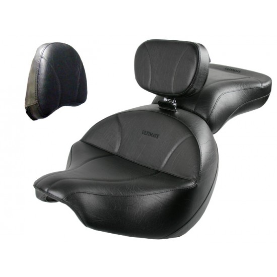 Boulevard C109 Seat, Passenger Seat, Driver Backrest and Stock Sissy Bar Pad Cover - Plain or Studded
