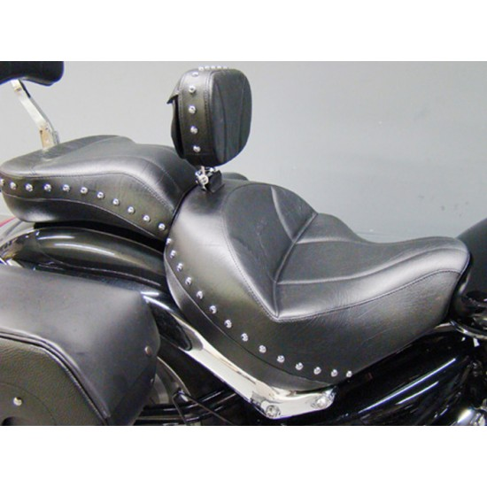 Boulevard C109 Seat, Passenger Seat and Driver Backrest - Plain or Studded