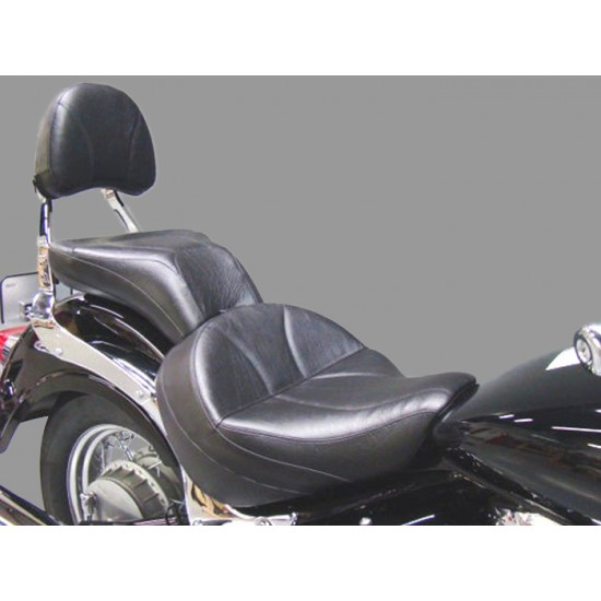 Boulevard C50 / Volusia 800 Midrider Seat, Passenger Seat and Stock Sissy Bar Pad Cover - Plain or Studded