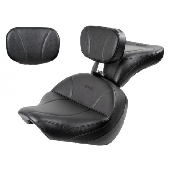 Boulevard C50 / Volusia 800 Midrider Seat, Passenger Seat, Driver Backrest and Sissy Bar Pad - Plain or Studded