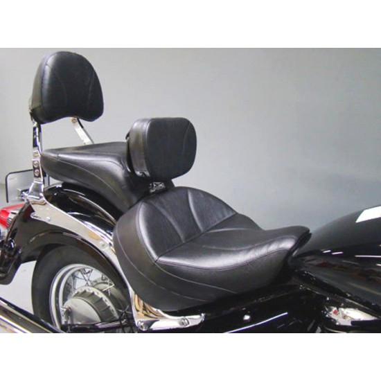 Boulevard C50 / Volusia 800 Midrider Seat, Passenger Seat, Driver Backrest and Stock Sissy Bar Pad Cover - Plain or Studded