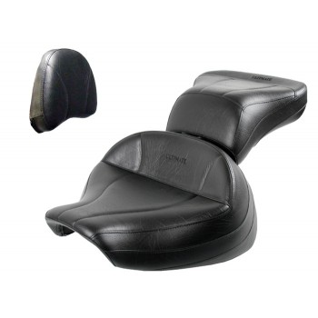 Boulevard C90 / C90T Midrider Seat, Passenger Seat and Stock Sissy Bar Pad Cover - Plain or Studded