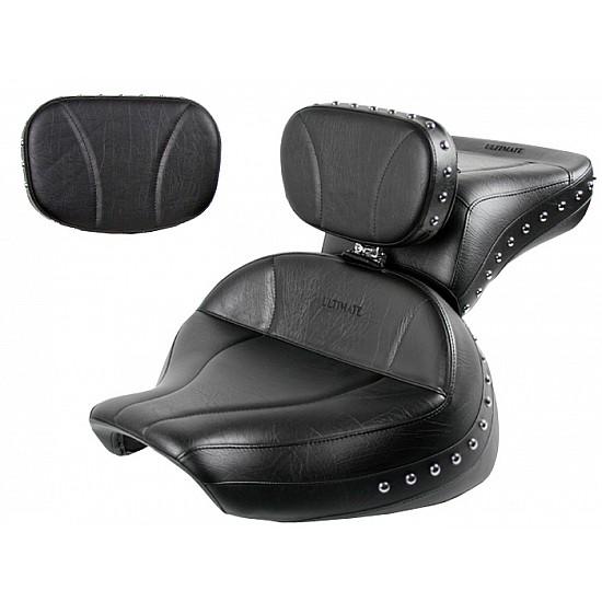 Boulevard C90 / C90T Midrider Seat, Passenger Seat, Driver Backrest and Sissy Bar Pad - Plain or Studded