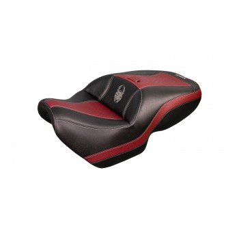 Spyder F3 Seat - Dark Red Ostrich Inlays and Logos