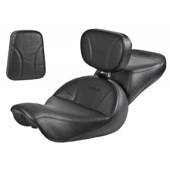 Dyna Seat, Passenger Seat, Driver Backrest and Sissy Bar Pad - Plain or Studded (2006 - 2017)