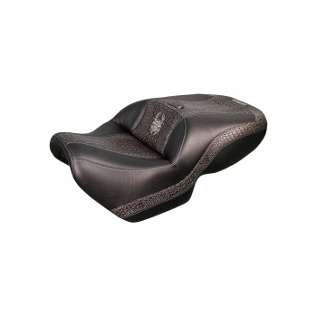 Spyder F3 Seat - Ebony Croc Inlays and Logos