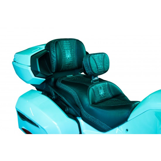 Spyder F3 Seat - Ebony Croc Inlays and Logos