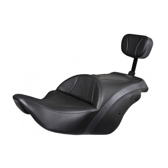 F6B Midrider Seat and Passenger Backrest - Standard or Deluxe Model