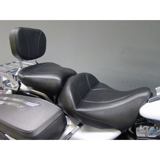 FLH® 2014 and Newer 2-Piece Seat, Passenger Seat and Sissy Bar Pad - Plain or Studded