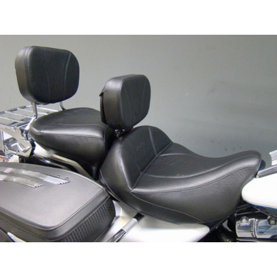 FLH® 2008-2013 2-Piece Seat, Passenger Seat, Driver Backrest and Sissy Bar Pad - Plain or Studded