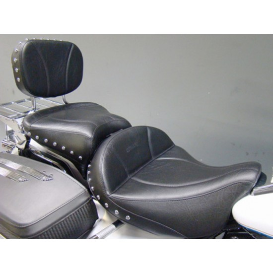 FLH® 2008-2013 2-Piece Seat, Passenger Seat and Sissy Bar Pad - Plain or Studded