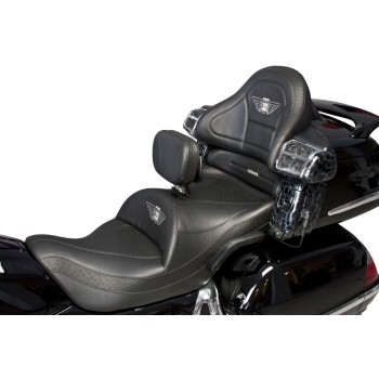 GL 1800 Seat, Driver Backrest and Passenger Backrest with Full Black Ostrich Inlays (2001-2017)