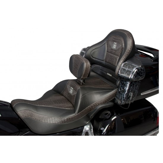GL 1800 Seat, Driver Backrest and Passenger Backrest with Ultimate Ebony Croc Inlays (2001-2010)