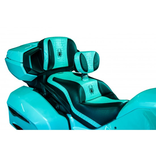 Spyder F3 Seat - Pearl White Croc Inlays and Logos