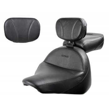 Raider Midrider Seat, Passenger Seat, Driver Backrest and Sissy Bar Pad - Plain or Studded
