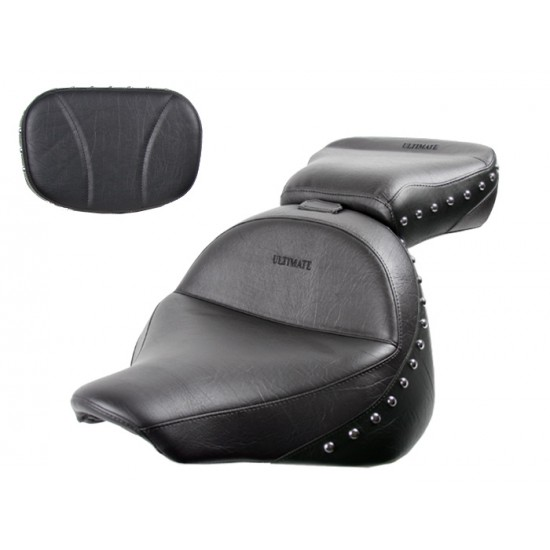 Raider Midrider Seat, Passenger Seat and Sissy Bar Pad - Plain or Studded