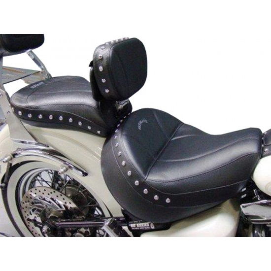 Road Star Midrider Seat, Passenger Seat and Driver Backrest - Plain or Studded