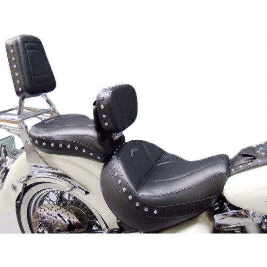 Road Star Midrider Seat, Passenger Seat, Driver Backrest and Sissy Bar Pad - Plain or Studded