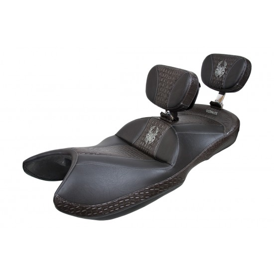 Spyder GS / RS Seat - Ultimate Ebony Croc Inlays and Logos