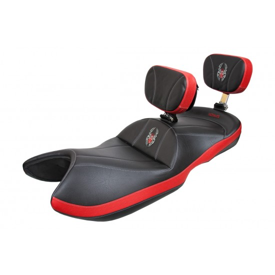 Spyder GS / RS Seat - Side Bright Red Ostrich Inlays and Logos