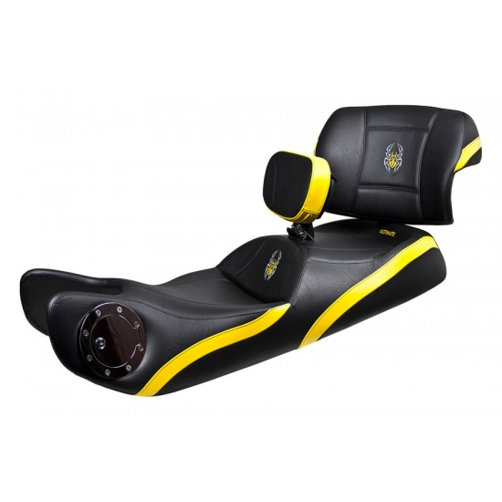 Spyder RT Seat, Driver Backrest and Passenger Backrest - Side Yellow Inlays, Logos and Fuel Door (2010 - 2019)