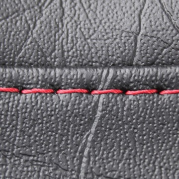 Single Dark Red Seat Stitch