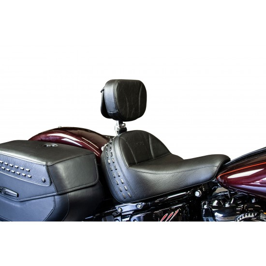 Softail® Heritage and Deluxe Seat and Driver Backrest - Plain or Studded (2018 and Newer)