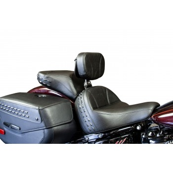 Softail® Heritage and Deluxe Seat, Passenger Seat and Driver Backrest - Plain or Studded (2018 and Newer)