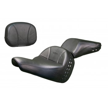 Softail® Heritage and Deluxe Seat, Passenger Seat and Sissy Bar Pad - Plain or Studded (2018 and Newer)
