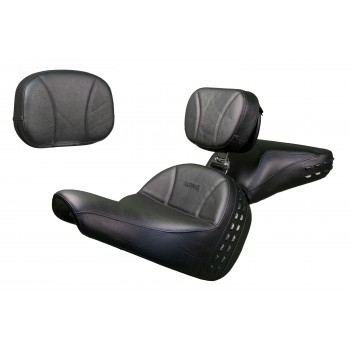 Softail® Heritage and Deluxe Seat, Passenger Seat, Driver Backrest and Sissy Bar Pad - Plain or Studded (2018 and Newer)