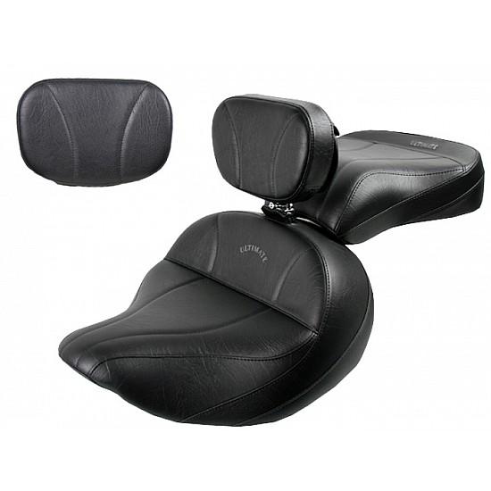 Roadliner / Stratoliner Lowrider Seat, Passenger Seat, Driver Backrest and Sissy Bar Pad - Plain or Studded