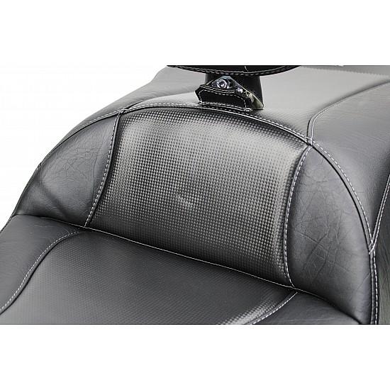 Goldwing Tour Seat, Driver Backrest and Ultimate Passenger Backrest - Apex Carbon Fiber Inlay (2018 - 2020)